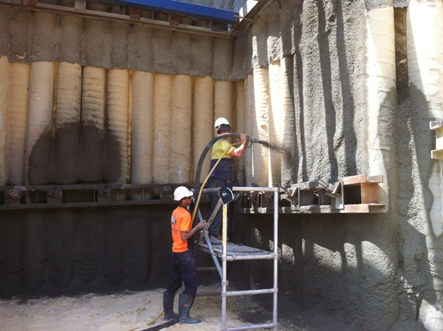 concrete pumping Sydney - shotcreting Sydney